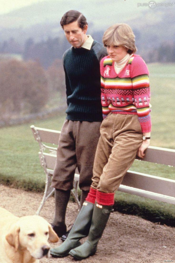 Príncipe Charles e Diana no primeiro ano de casamento, em 1981