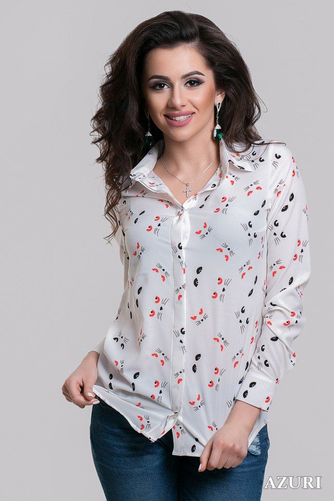 Блузка с животным принтом Blouse with animal print
