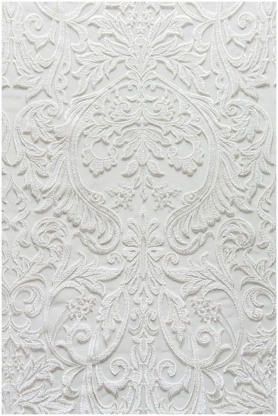 Berta Bridal Embroidery Lace Fabric Ivory Lace Wedding Lace