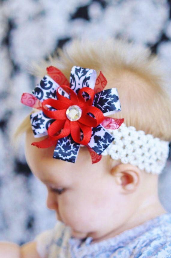 Baby hair bow ribbon flower bow Clip