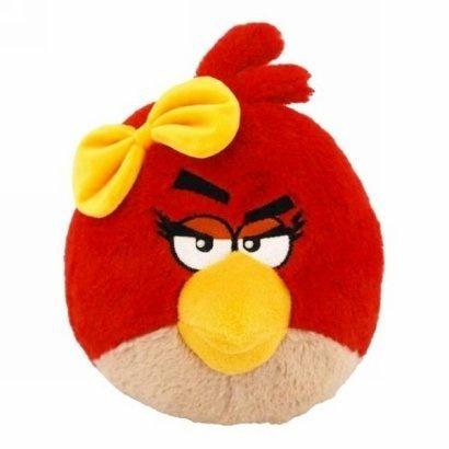 Angry Birds - Czerwony ptak z kokardą, maskotka, 13 cm