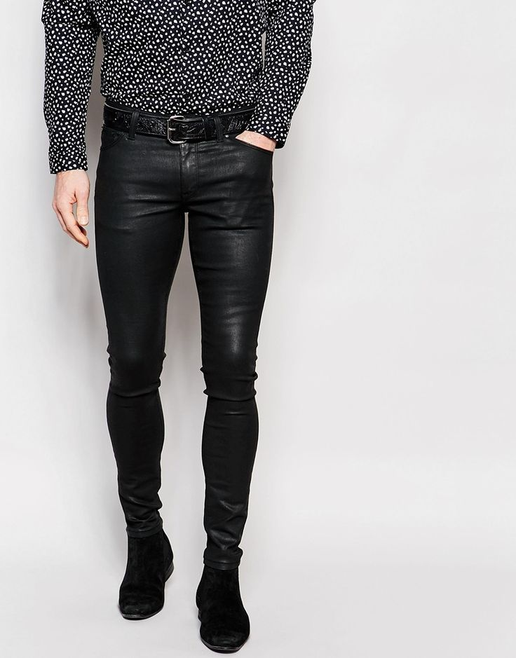Image 1 Of Asos Extreme Super Skinny Jeans In Heavy Coated
