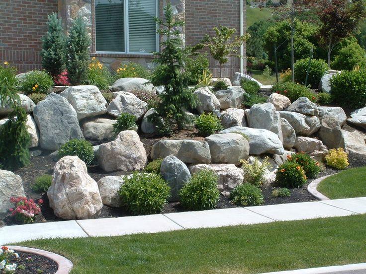 17 best ideas about large landscaping rocks on pinterest for Large landscape boulders