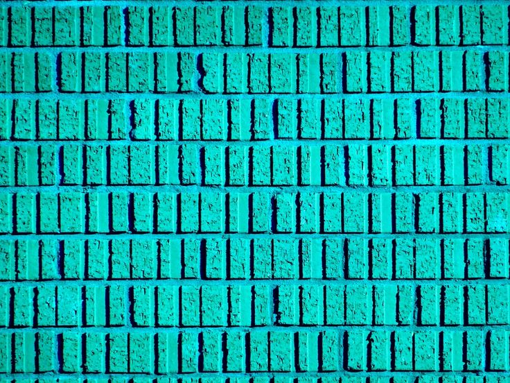 Teal Brick Wallpaper