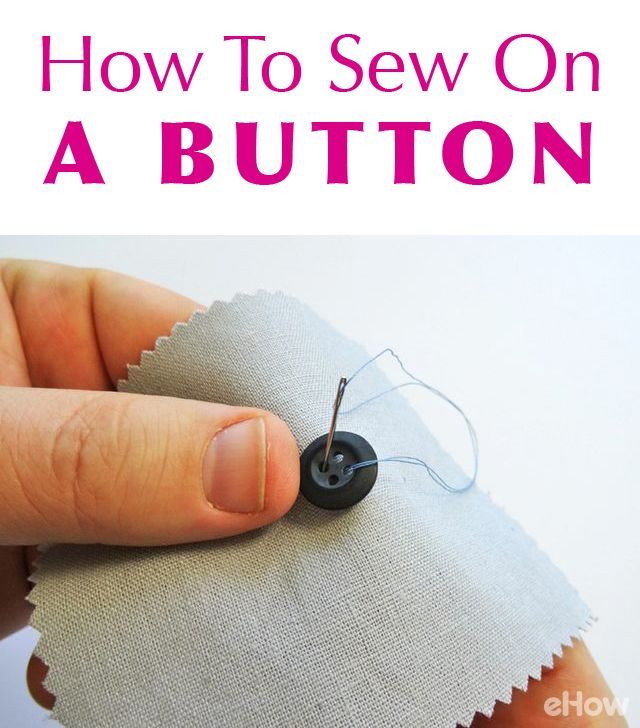 Sewing on a button is sewing skills 101! Easy tutorial here (that you know will come in handy over and over again!) http://www.ehow.com/how_12343233_sew-button.html?utm_source=pinterest.com&utm_medium=referral&utm_content=freestyle&utm_campaign=fanpage