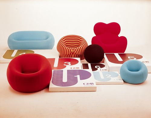 POSTMODERN: Gaetano Pesce Up Collection: (Left Right, Top Bottom