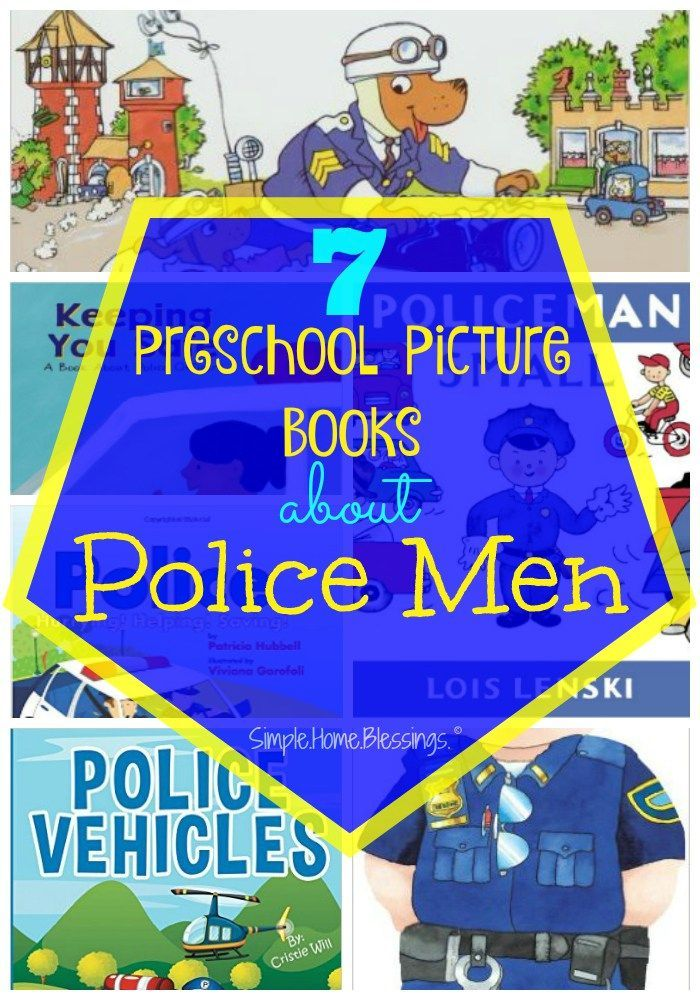 Preschool Picture Books to read as part of a community helpers unit on Police Men.  Lots of fun books!