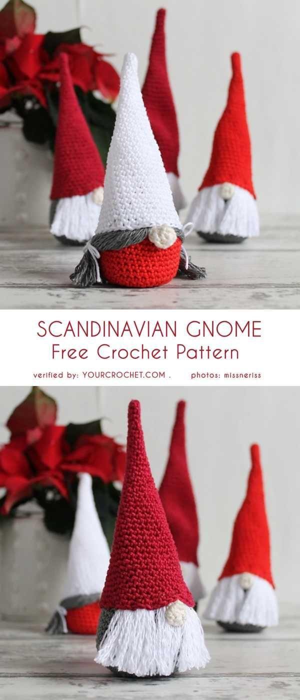 Scandinavian Gnome Free Crochet Pattern Christmas Crochet Christmas Crochet Patterns Crochet Patterns