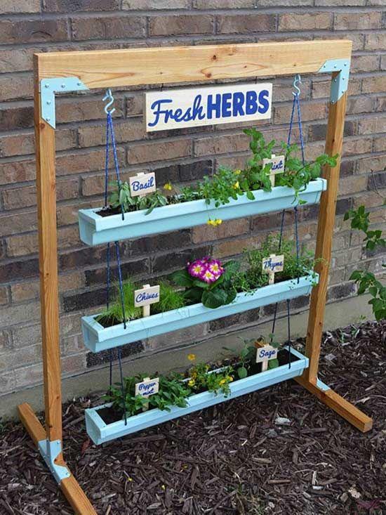 Herb Garden Ideas herb gardens 30 great herb garden ideas 9 Diy Vertical Gardens For Better Herbs