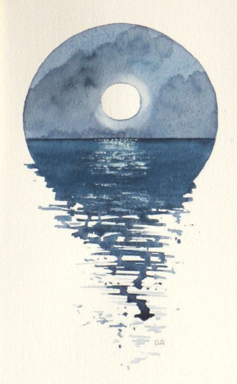 Sea Aquarel - Les silhouettes des nuages en gardant les mêmes teintes que le ciel. Pour les couleurs, rester dans le beige, parchemin, pastel.