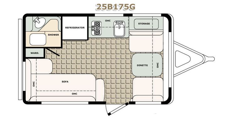 Cargo Trailer Conversion Floor Plans | Floor Plans Standard Features Popular Options Specifications Color ...
