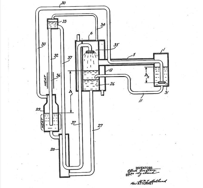 1930: Albert Einstein and fellow nuclear scientist and #hunnovator Leo Szilard receive an American patent for a new kind of refrigerator that requires no electricity.