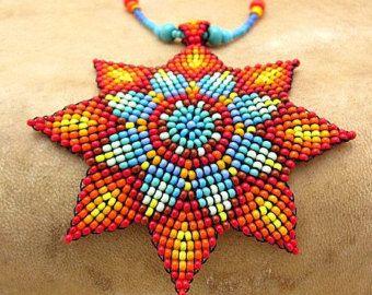 Semilla con cuentas collar de geometría por HANWImedicineArt