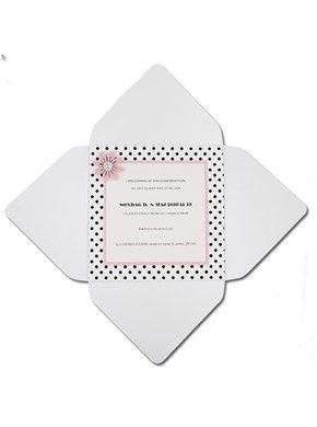 Ide til lav selv invitation - Paris Wrap Lyserød