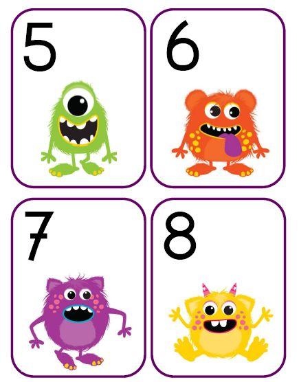 getalkaarten, monsters, kinderboekenweek, griezelen, kleuters