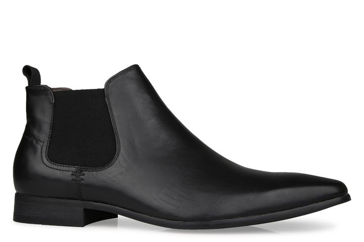 Shoe Connection - Bata - Black black leather slip-on ankle boot. $189.99 https://www.shoeconnection.co.nz/mens/boots/slip-on-boots/bata-blake-leather-slip-on-ankle-boot?c=Black%20804-60833
