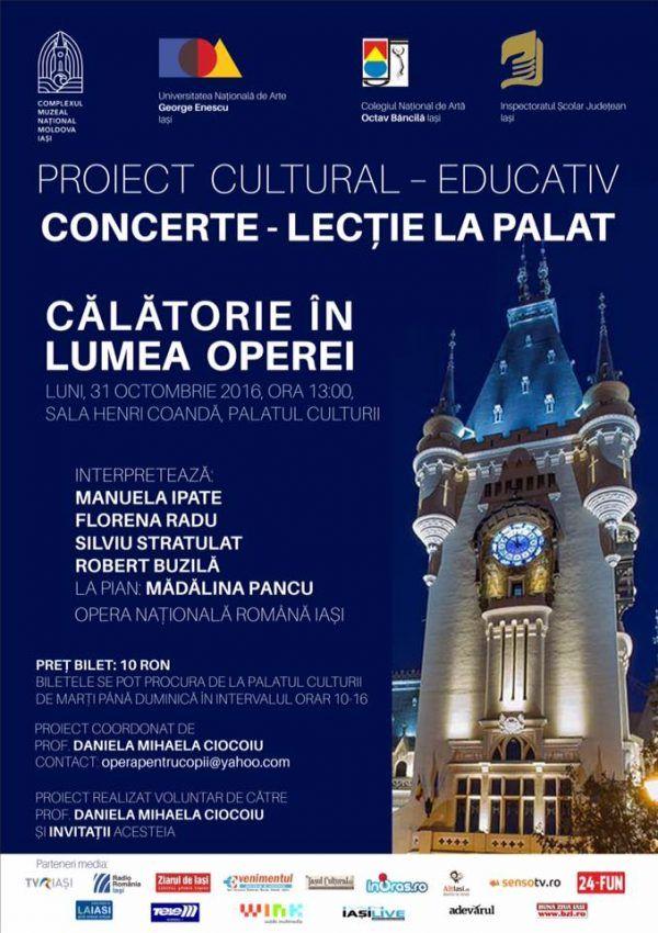 Concerte-Lectie la Palat: Calatorie in lumea operei