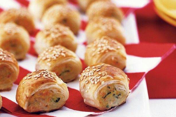 Chicken Sausage Rolls recipe: http://www.taste.com.au/recipes/35398/chicken+sausage+rolls?ref=collections,healthy-snack-recipes