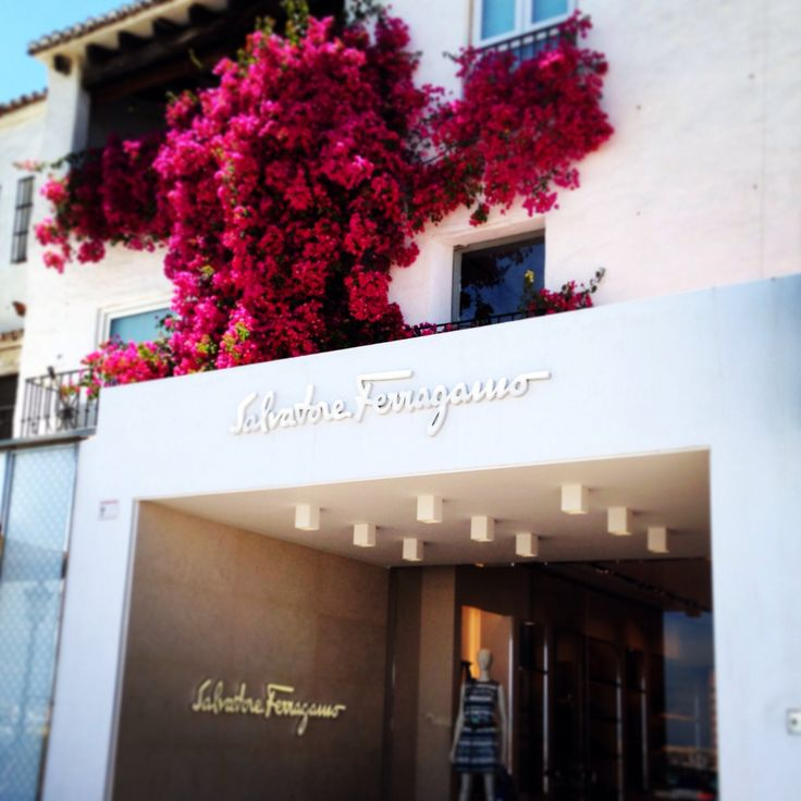 Salvatore Ferragamo's shop in Puerto Banús. Hotel PYR Marbella