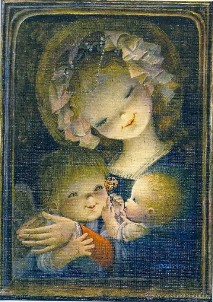 La visita de un ángel - Ferrándiz - Ediciones SUBI V 1650.2 - Mide 23,5 x 17…