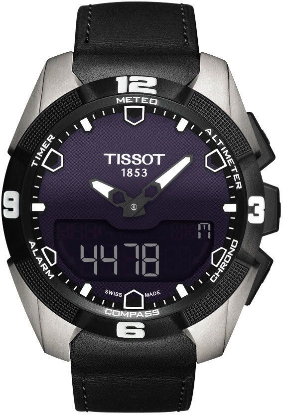 Tissot Watch T-Touch Expert Solar #alarm-yes #bezel-fixed…