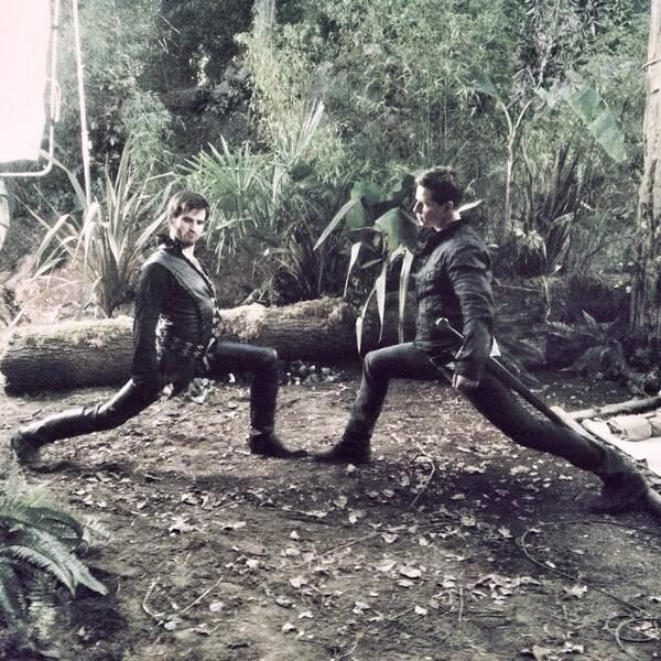 Hook & Charming being fabulous!! How on earth does Colin do that in his leather pants?!?!?!? hahahah