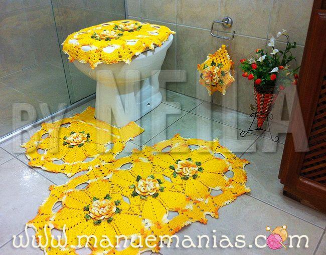 Jogo de Banheiro Amarelo c/ MaxColor