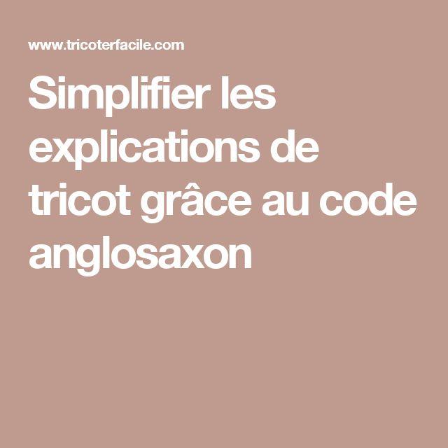 Simplifier les explications de tricot grâce au code anglosaxon