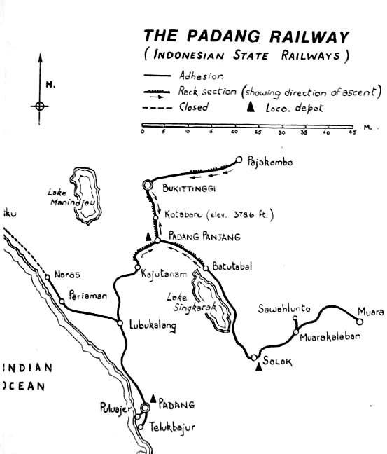 West Sumatra train network.