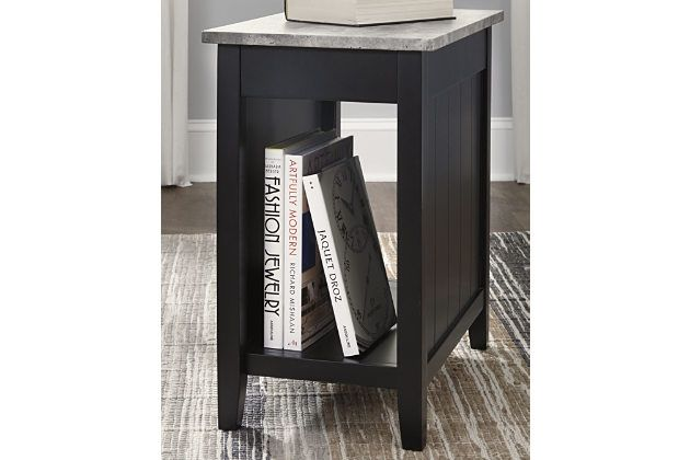 Diamenton Chairside End Table With Usb Ports Outlets End