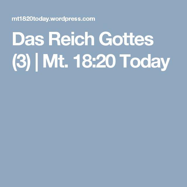 Das Reich Gottes (3) | Mt. 18:20 Today