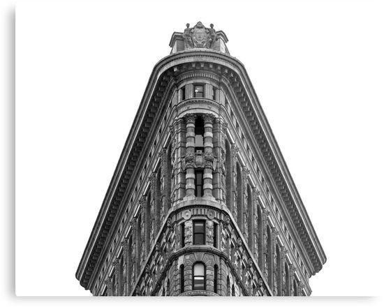 Flatiron Building Metal Print • Also buy this artwork on wall prints, apparel, stickers, and more.  #NY #NYC #USA #America #UnitedStates #Manhattan #FlatironBuilding #Architecture #Structure #BlackAndWhite #Monochrome #Historic #Skyscraper #HighRise #FullerBuilding #NewYork #NewYorkCity #Art #Print #Posters