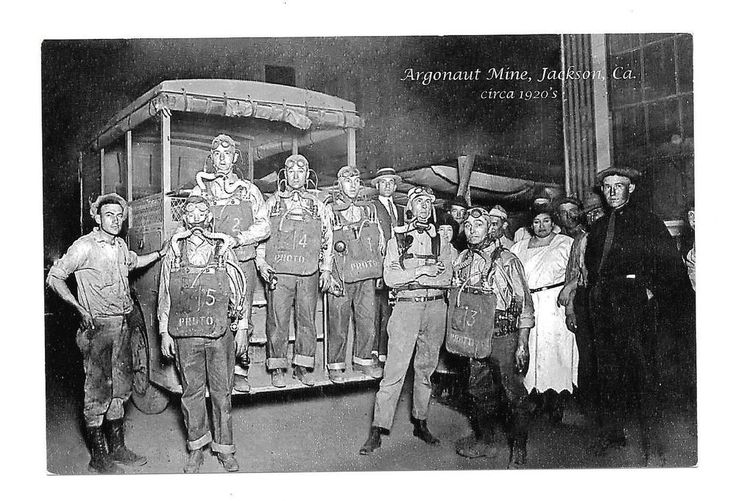 RPPC ARGONAUT Gold MINE 1920s Mining Disaster, Jackson California, 2008 PostCard