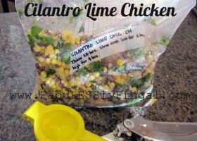 Cilantro Lime Chicken Slow Cooker Recipe. A simple, all-natural & flavorful meal to keep on hand in the freezer. Just thaw and throw it in the Crock Pot!
