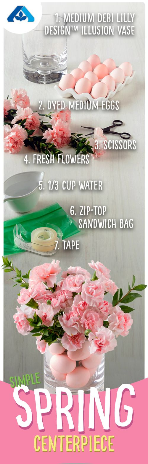 Creating this simple spring centerpiece is easier than you would think! Get the kids involved for a fun family activity!