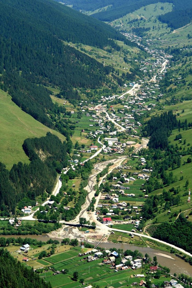 Valea Bistritei Moldova Romania Carpathian mountains romanian villages