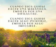 Dios obra a tu favor...