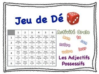French Small Group Speaking Activity to Practice Possessive Adjectives
