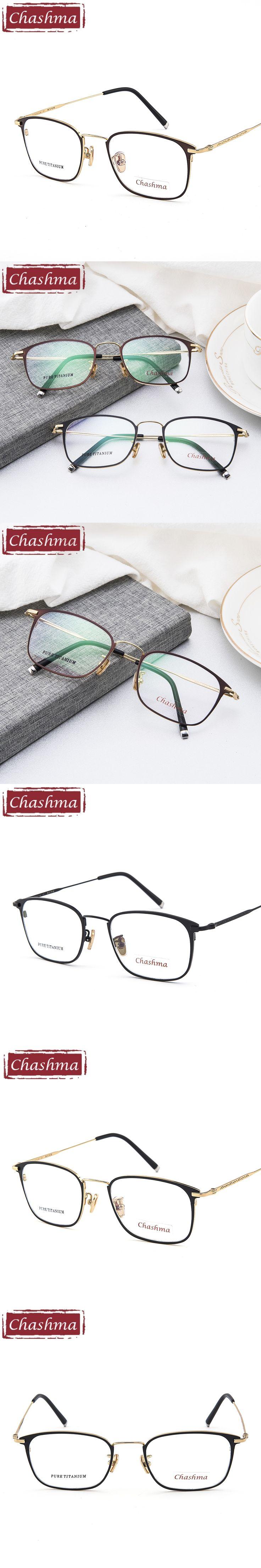 Chashma Brand Top Quality Glasses Frame Titanium Women Eyeglasses Male Prescription Spectacles Clear Color Lenses