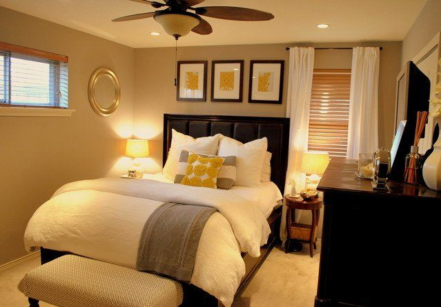 awkward window placement  bedroom bedroom upholstered headboard ceiling lighting wall