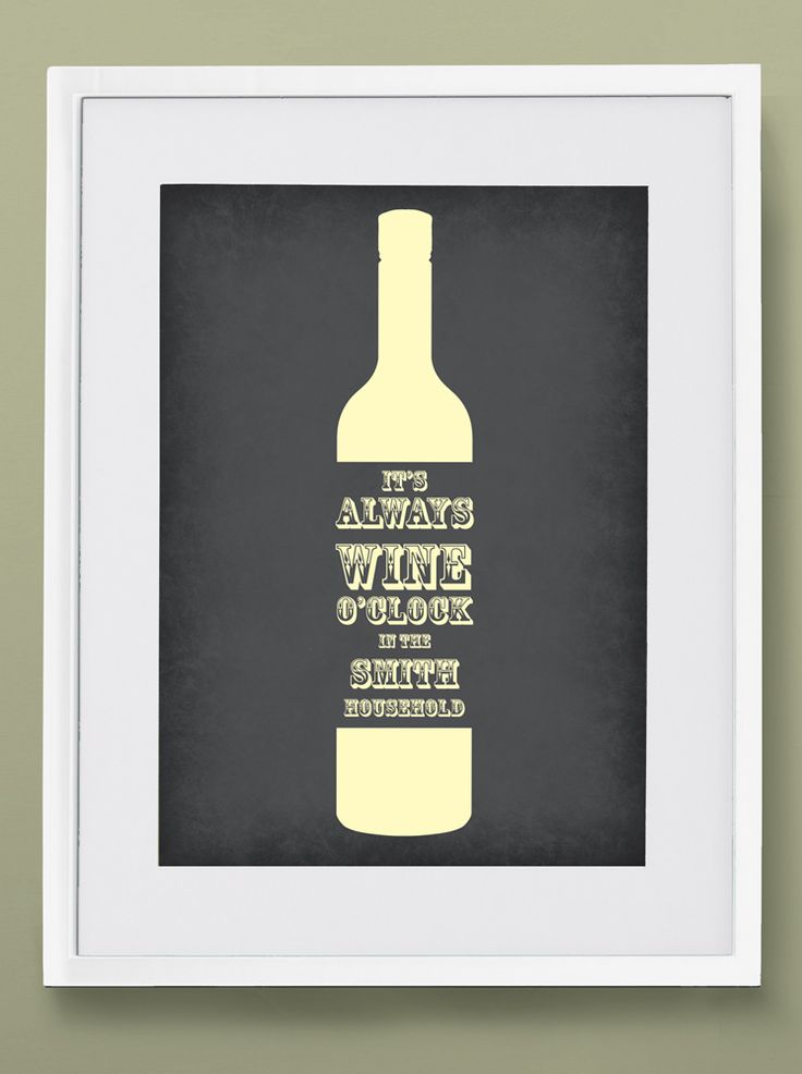 Wine O'Clock - Personalised print from MAYKI