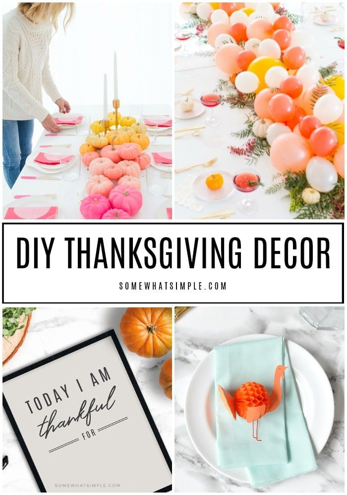 10 Favorite Diy Thanksgiving Decorations Ideas I Love Pinterest