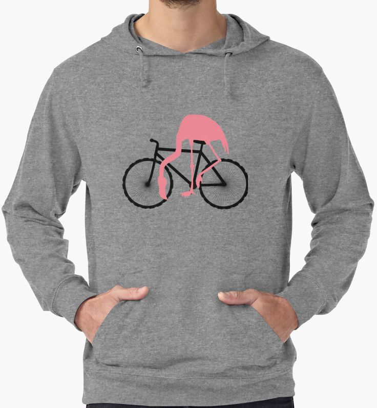 Pink Flamingo Cyclist by TammyWinandArt