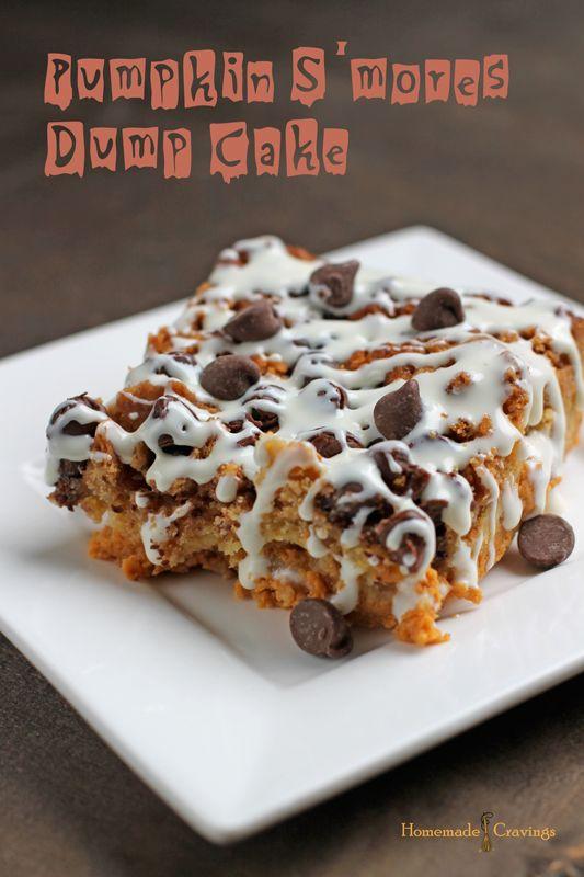 Pumpkin S'mores Dump Cake | Homemade Cravings