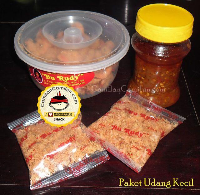 Paket Udang Kecil (Udang kemasan cup kecil + Sambal Bawang + Kremesan)  CamilanCamilun.com