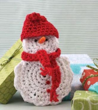 Lily® Sugar 'n Cream® Snowmen #crochet #pattern #snowman #winter