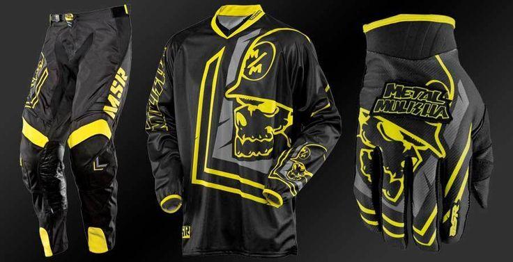 Metal Mulisha Scout MX Pants Jersey Gloves Motorbike Motorcycle Black Yellow