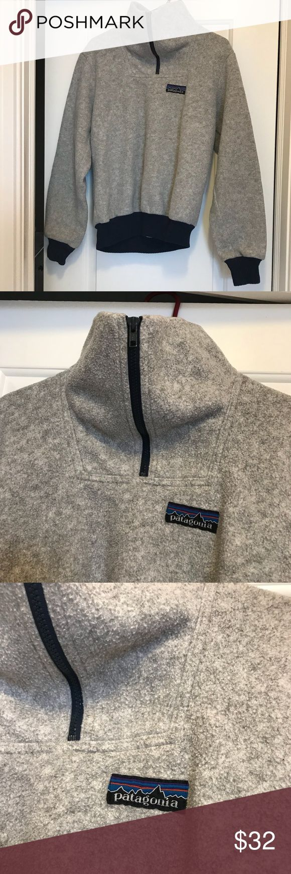 Patagonia fleece jacket Patagonia pull over fleece jacket blue and gray Patagonia Jackets & Coats