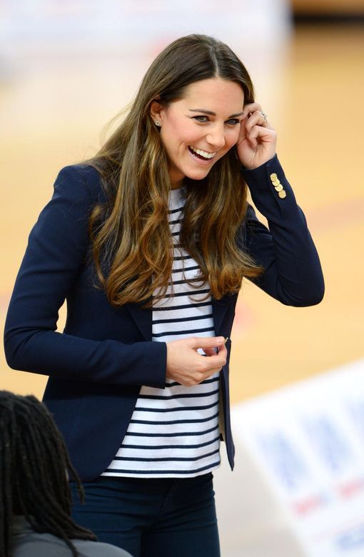 Catherine Duchess of Cambridge visits the SportsAid Athlete Workshop today, 10/18/2013.
