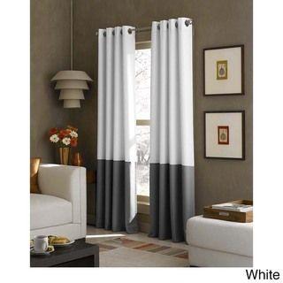 Kendall Color Block Grommet Curtain Panel